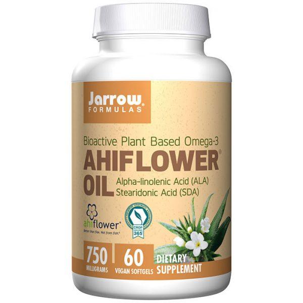 Ahiflower Oil, Plant Based Omega-3, 60 Vegan Softgels, Jarrow Formulas