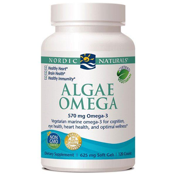Algae Omega, Vegetarian Omega-3, 120 Softgels, Nordic Naturals