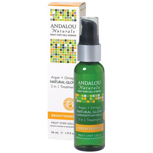 Argan + Omega Natural Glow 3 in 1 Treatment, 1.9 oz, Andalou Naturals