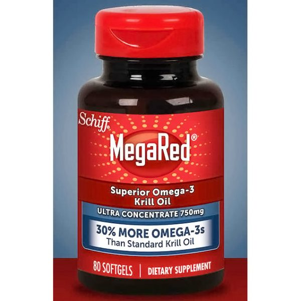 MegaRed Omega-3 Krill Oil, Ultra Concentrate 750 mg, 80 Softgels, Schiff